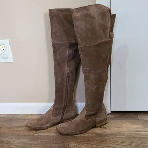 6.5 Born Suede Leather OTK Boots